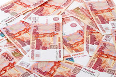 Russian paper money 5000 rubles Stock Photos