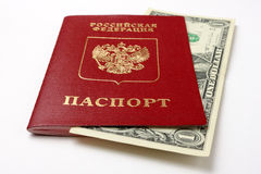 Russian passport Stock Photo