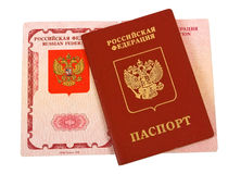 Russian passport. On white background Royalty Free Stock Image