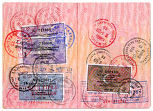 Russian passport. Page for visa marks Royalty Free Stock Photography