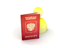 Russian passport stock photos