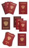 Russian passport collage isolated Royalty Free Stock Photo