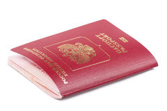 Russian passport with microchip Stock Photos