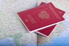 Russian passports Stock Photos