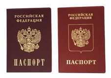 The Russian passports Royalty Free Stock Photo