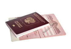Russian passports Stock Photos