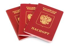 Russian passports Royalty Free Stock Photo