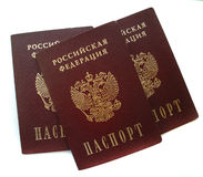 Russian passports isolated Royalty Free Stock Photo