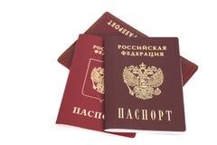 Russian  Passports Royalty Free Stock Photo