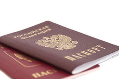 Russian Passports Royalty Free Stock Image