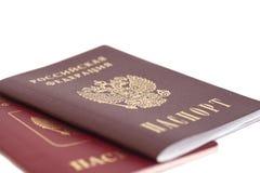 Russian Passports Royalty Free Stock Image