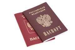 Russian Passports. Isolated on white Stock Photography