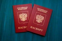 Russian passports Stock Photo