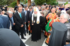 Russian Patriarch Kirill Visits Thessaloniki Royalty Free Stock Image
