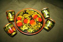 Russian patterns, Russian folk crafts, handmade stock image