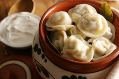Russian Pelmeni. Stock Photo