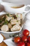 Russian pelmeni Stock Image