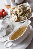 Russian pelmeni Stock Photo