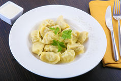 Russian  pelmeni Royalty Free Stock Image