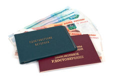 Russian Pension Certificate Royalty Free Stock Images
