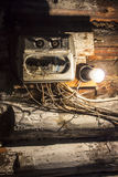 Russian pig-iron. Electrician in the old house Royalty Free Stock Photography