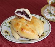 Russian piroshki Stock Images