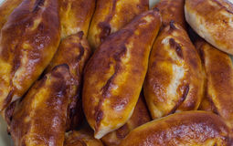 Russian piroshki Stock Photo