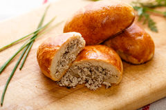 Russian pirozhki Royalty Free Stock Photo