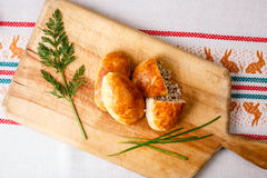 Russian pirozhki Royalty Free Stock Images