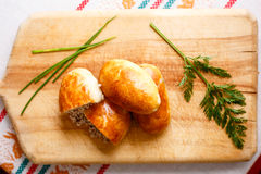 Russian pirozhki Royalty Free Stock Image