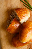 Russian pirozhki Royalty Free Stock Photography