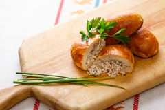 Russian pirozhki Stock Photography