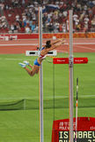 Russian Pole vaulter breaks world record Stock Photo