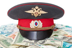Russian police officer cap Royalty Free Stock Photos