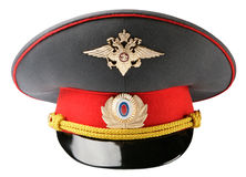 Russian Police Officer Hat Royalty Free Stock Photos