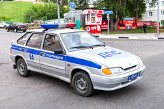 Russian police patrol car of the State Automobile Inspectorate p Stock Images