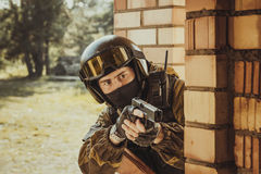 Russian police special force Stock Photography
