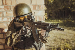 Russian police special force Stock Photos
