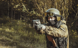 Russian police special force Royalty Free Stock Photography