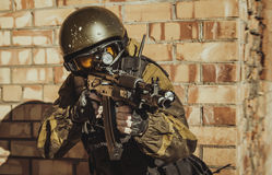 Russian police special force Royalty Free Stock Images