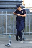 The russian police woman stock photos