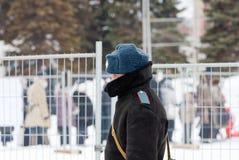 Russian policeman in winter wear Royalty Free Stock Photo