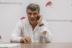 Russian politic and opposicionist Boris Nemtsov Royalty Free Stock Images