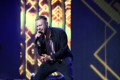 Russian pop singer Egor Kreed performs during the 25th Slavyansky Bazar Festival Stock Photos