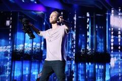 Russian pop singer Egor Kreed performs during the 25th Slavyansky Bazar Festival Stock Photo