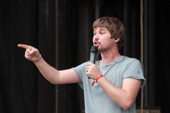 Russian popular singer Vasiliy Oblomov Royalty Free Stock Photo