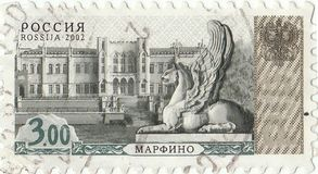 Russian postage stamp. `Marfino`2002 stock photos