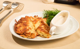 Russian potato cake Stock Photo