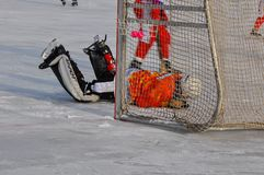 Game of bandy Royalty Free Stock Photo