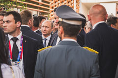 Russian President Putin visits Expo 2015 in Milan, Italy Stock Photography